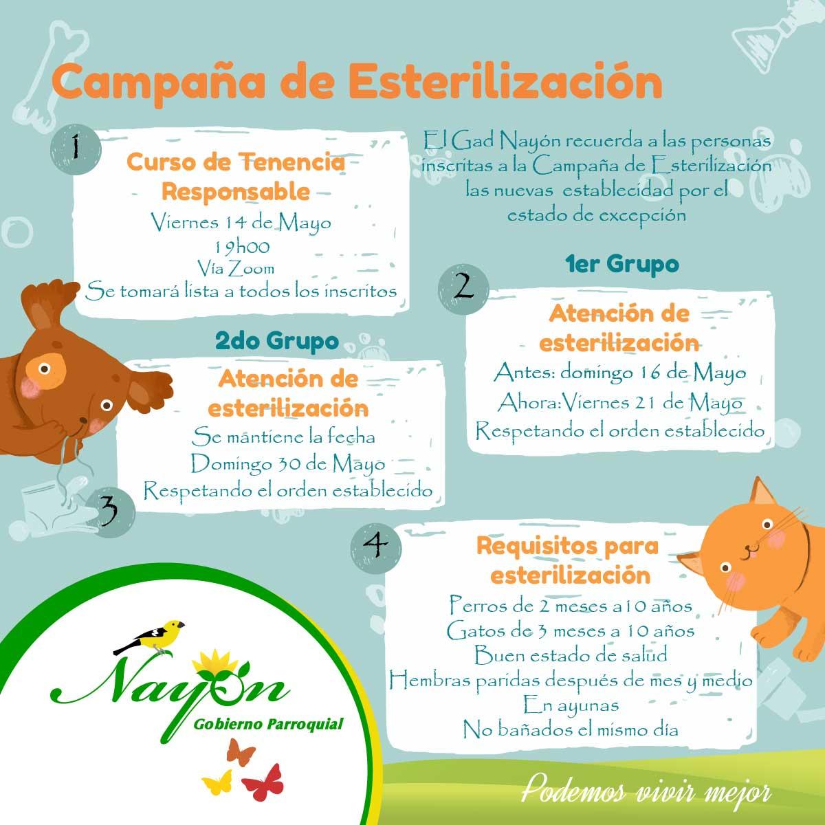Campaña de Esterilización de Mascotas- Curso de Tenencia Responsable