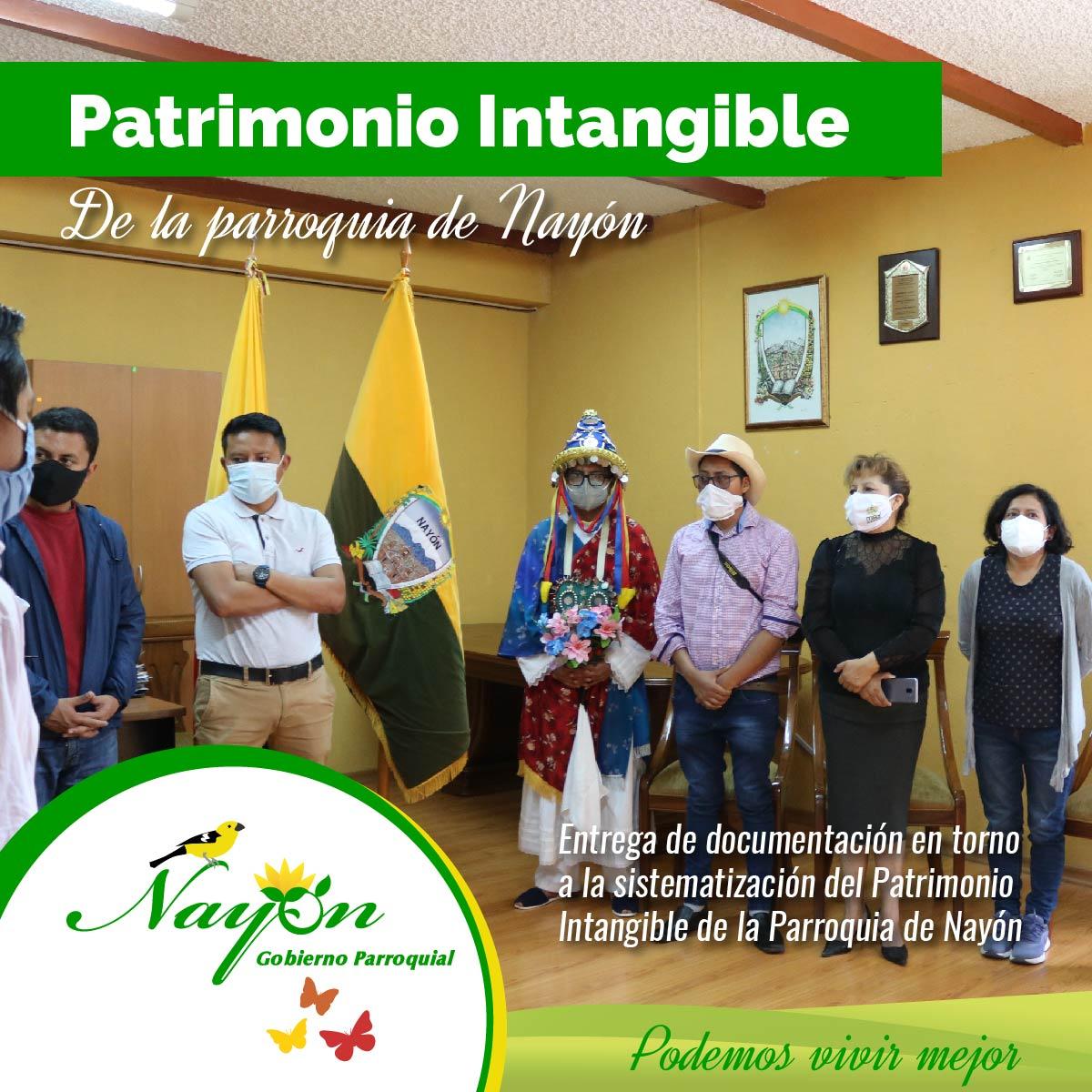 Entrega de documentación en torno a la Sistematización del Patrimonio Intangible de la Parroquia de Nayón.